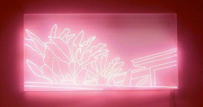 Sven Drühl, E.H. (Neon), 2007, 130 x 260 x 15 cm, Neonröhren auf Plexiglaskasten, courtesy ALEXANDER OCHS PRIVATE, Berlin, und Tony Wuethrich Galerie, Basel © VG Bild-Kunst, Bonn 2021
