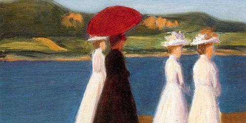 Gabriele Münter, Promenade (Promenade an der Seine), um 1904, Kunsthalle Emden