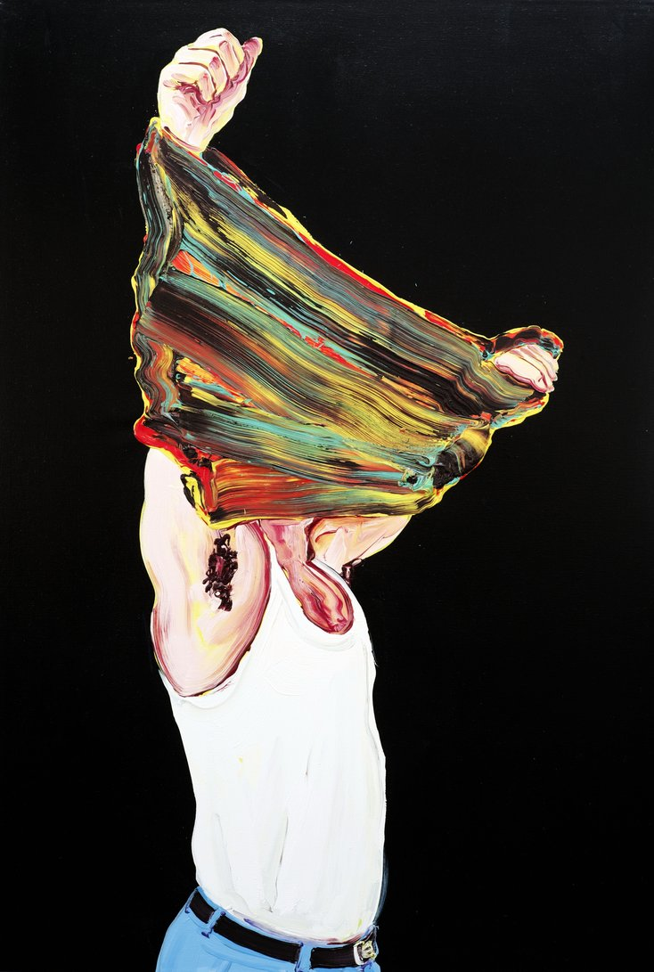 Cornelius Völker, Pulli, 2000, Öl/Lwd. (c) VG Bild-Kunst, Bonn 2021