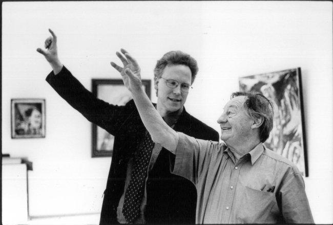 Dr. Achim Sommer, wiss. Leiter (1996-2006) mit Zustifter Otto van de Loo. Foto (c) Jost Schilgen