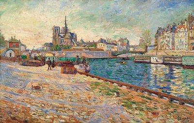 Paul Signac, Notre Dame, die Insel Saint-Louis, 1884