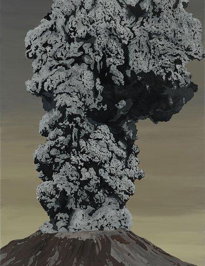 Sven Drühl, SDNN (volcano), 2016