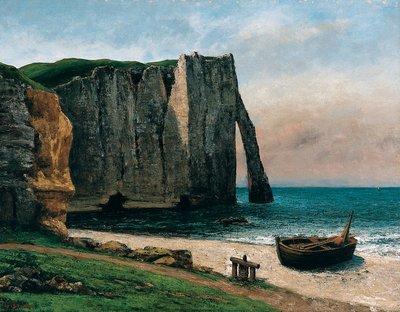 Gustave Courbet, Die Steilküste bei Étretat, 1869