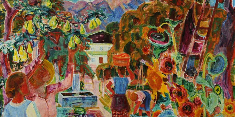 Maria Caspar-Filser, Großer Obstgarten, 1931, Ö/L, Landratsamt Bieberach (c) VG Bild-Kunst, Bonn 2020