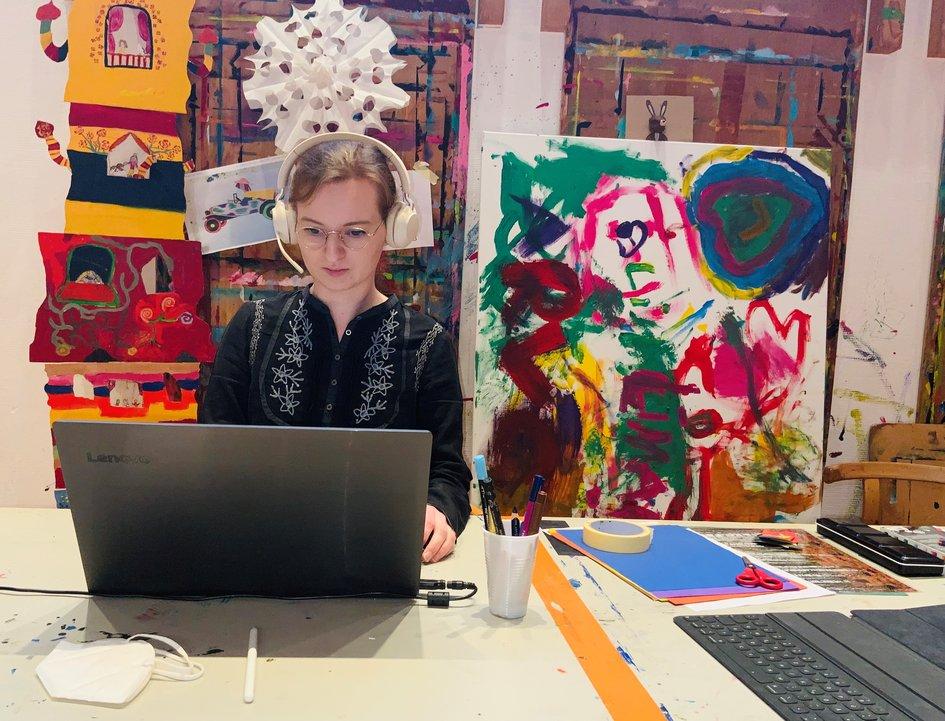 Digitales Atelier für Erwachsene: Kunst und Kluntje