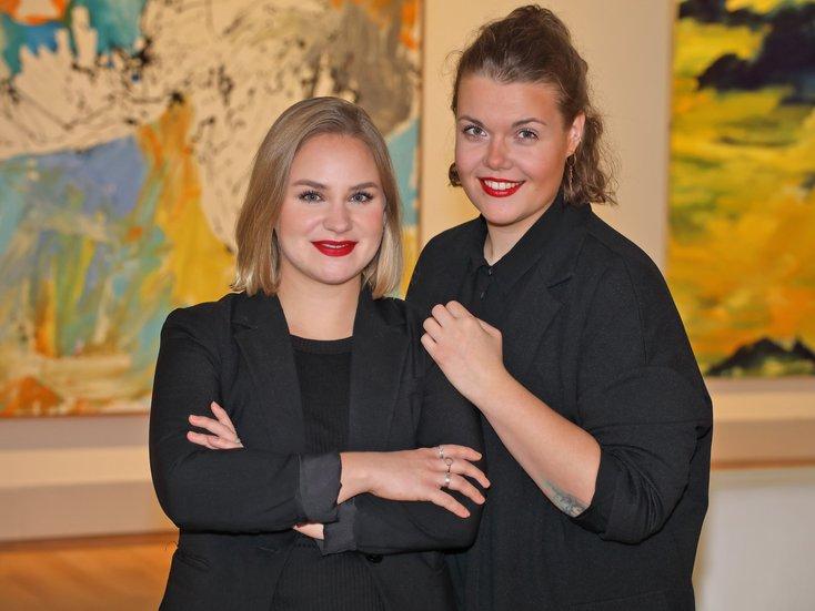 Lena und Mieke-Sprecherinnen der Jungen Freunde