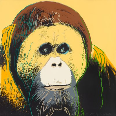 Andy Warhol, Orangutan (aus der Serie: Endangered Species), 1983, Siebdruck © 2021 The Andy Warhol Foundation for the Visual Arts, Inc. / Licensed by ARSNY