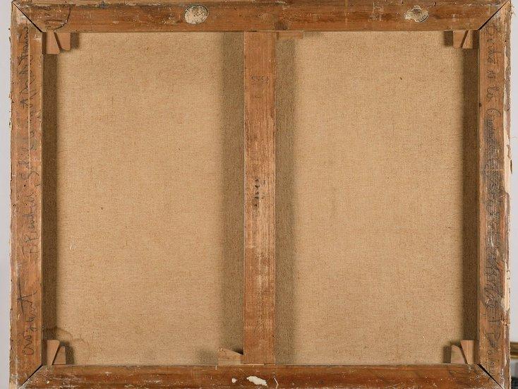 Picabia, Aux Bords de la Creuse - Rückseite, doubliert