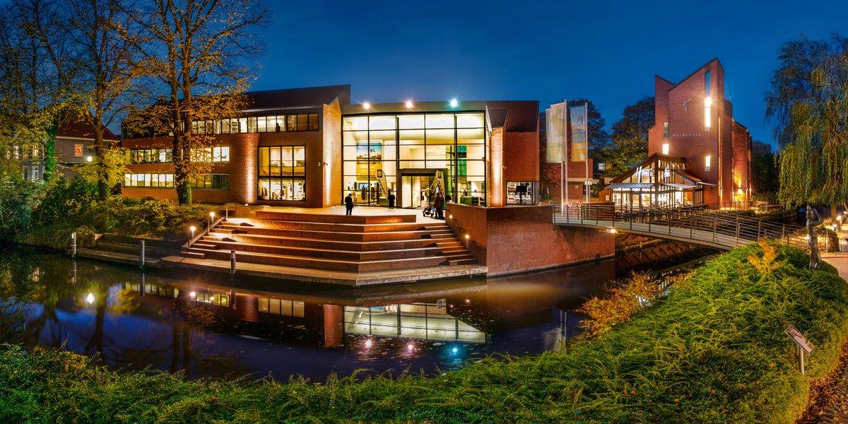 Panoramaansicht der Kunsthalle 2019 Abendstimmung