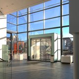 Blick vom Foyer der Kunsthalle nach aussen