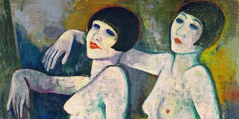 Karl Hofer, Tiller Girls, vor 1927, Öl/Lwd. (c) VG Bild-Kunst, Bonn 2021