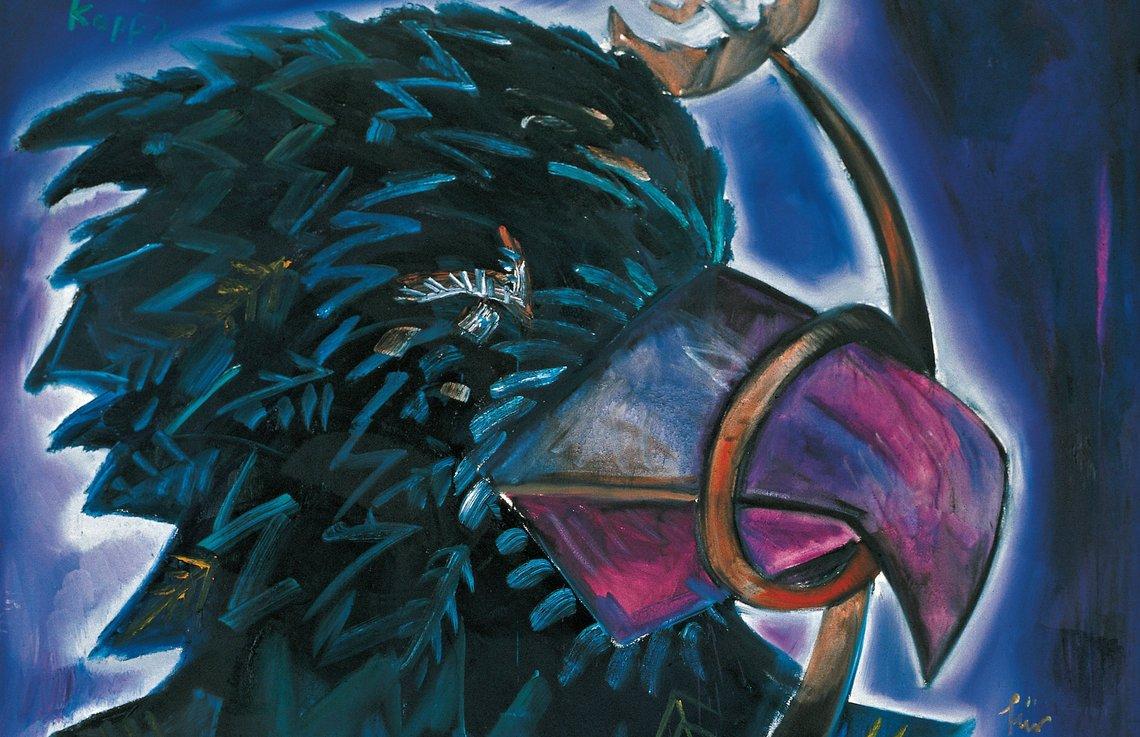 Jörg Immendorff, Studykopf 2 (für Kricke), 285 x 285 cm, Öl/Lwd., Kunsthalle Emden © The Estate of Jörg Immendorff, Courtesy Galerie Michael Werner, Märkisch Wilmersdorf, Köln & New York
