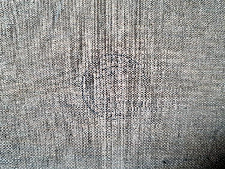 Ein Stempel auf der Rückseite eines Kokoschka-Gemäldes