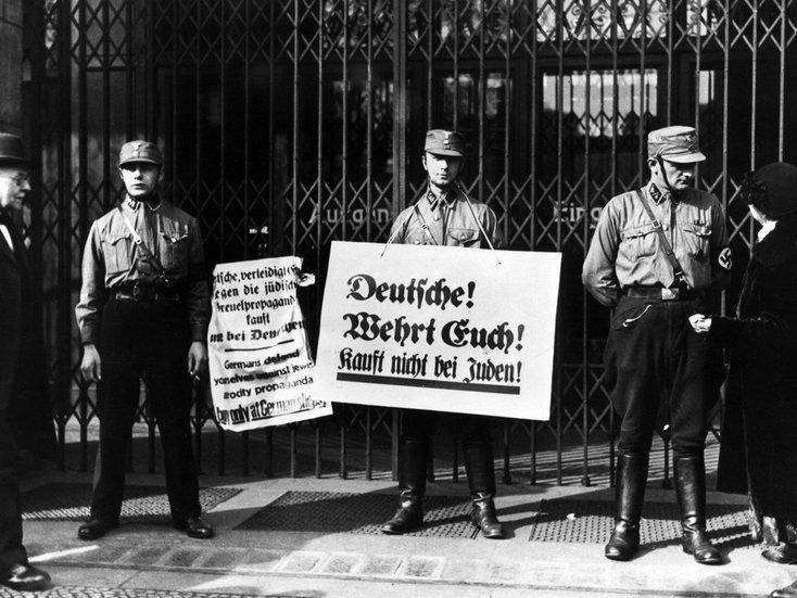 Boykott gegen jüdische Bürger, 1933, Fotografie, Deutsches Historisches Museum, Berlin (c) bpk