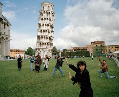 """Martin Parr, ITALY. Pisa. The Leaning Tower of Pisa (Serie """"Small World""""), 1990"""