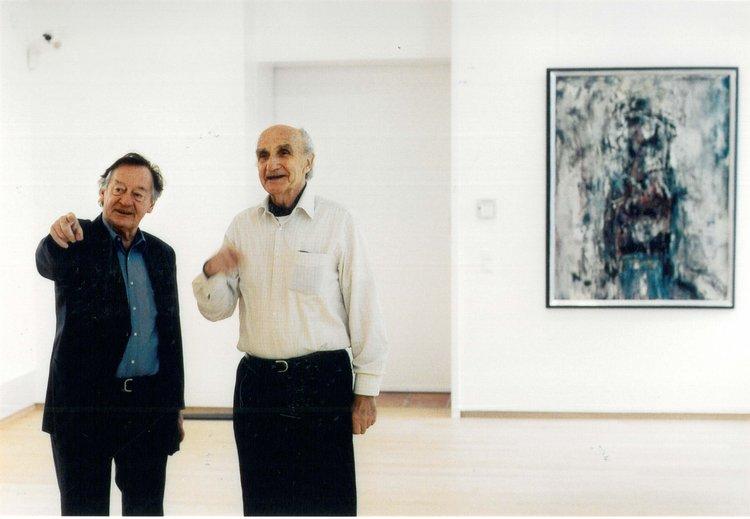 Architekt Friedrich Spengelin und Zustifter Otto van de Loo, 2000. Foto (c) Jost Schilgen
