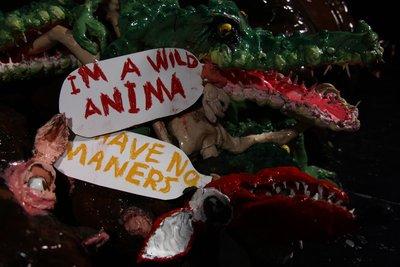 Natalie Djurberg & Hans Berg, I am a Wild Animal, 2011, Filmstill (Knet-Animation, Video, Musik) (4'43, Ed. 4, II) © VG Bild-Kunst, Bonn 2021