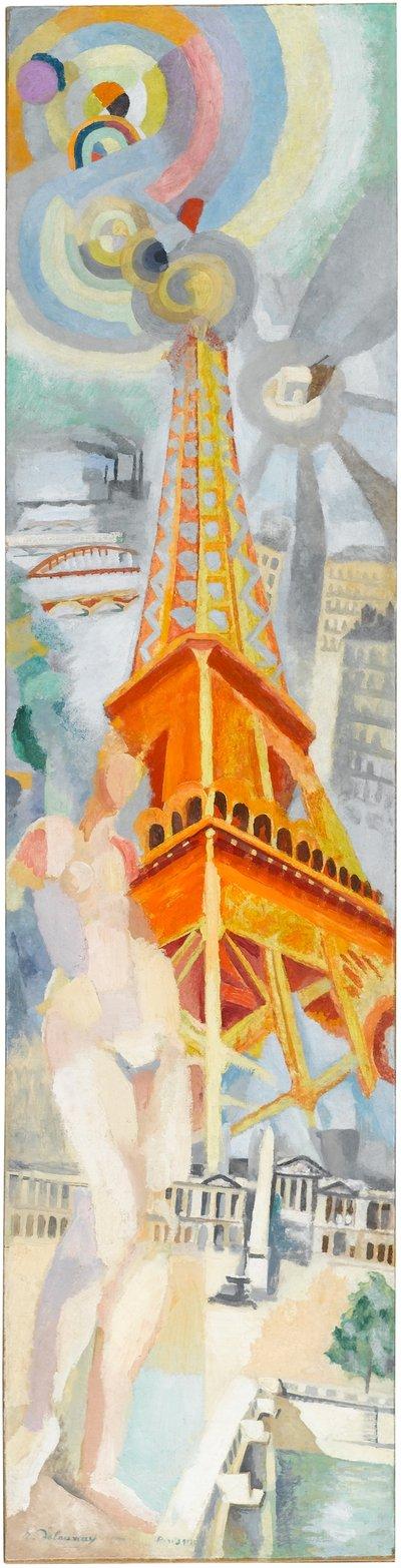 Robert Delaunay, Paris – Die Frau und der Turm (La Ville de Paris – La femme et la tour), 1925