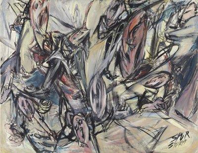 Helmut Sturm, Martyrium III, 1960, Öl auf Leinwand, 109,5 x 140 cm, Kunsthalle Emden © VG Bild-Kunst, Bonn 2020