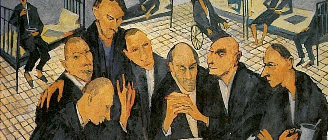 Maxim Kantor, Kreuzworträtsel (Ausschnitt), 1985 (c) Maxim Kantor