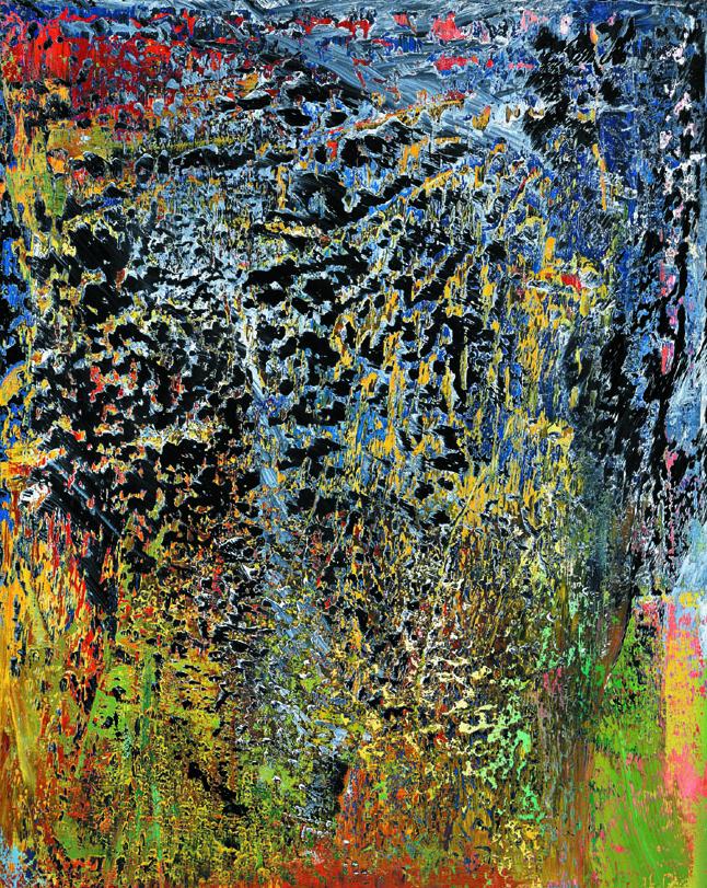 Gerhard Richter, Abstraktes Bild, 1988, Öl/Leinwand, 200,3 x 160,8 cm (c) Gerhard Richter